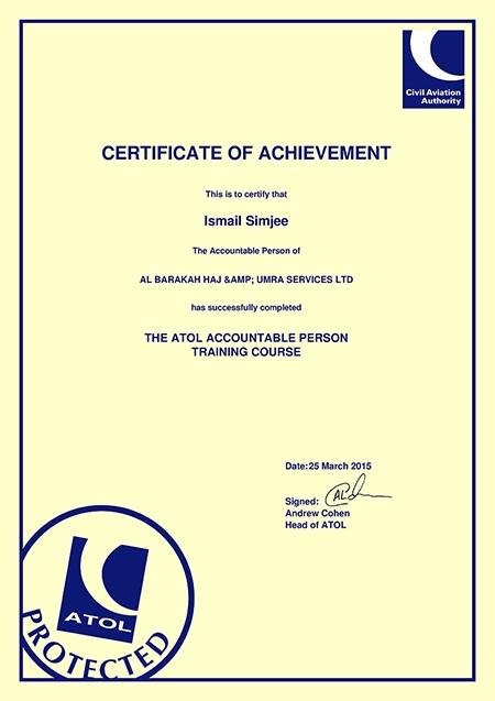 ATOL Certificates